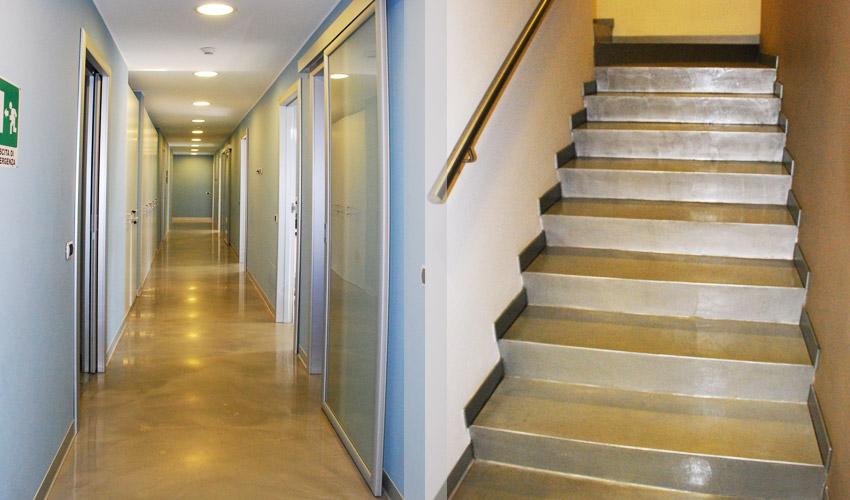 Pavimento e scale in resina per studio dentistico a pavia fl srl di francesco lamuraglia - Resina per scale ...