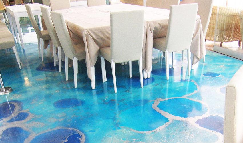 Pavimento in resina in villa privata a Fidenza