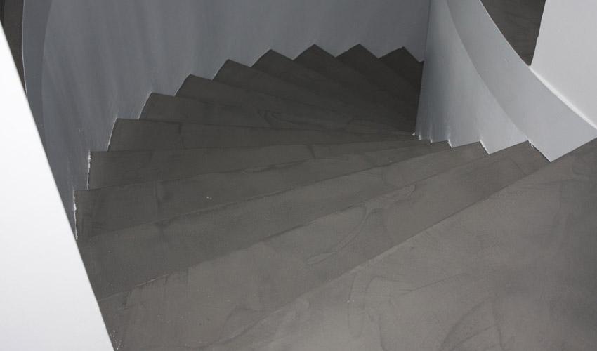 Pavimento e scale in resina per villa privata a melegnano fl srl di francesco lamuraglia - Resina per scale ...
