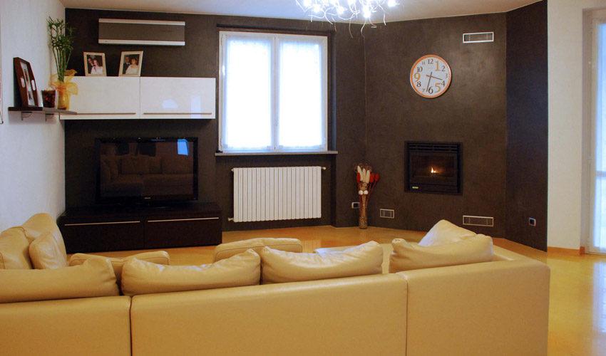 Pavimento e pareti in resina per casa privata a Pavia