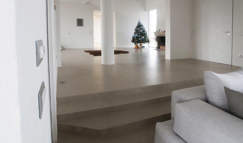 Pavimento in resina per villa privata a Parma