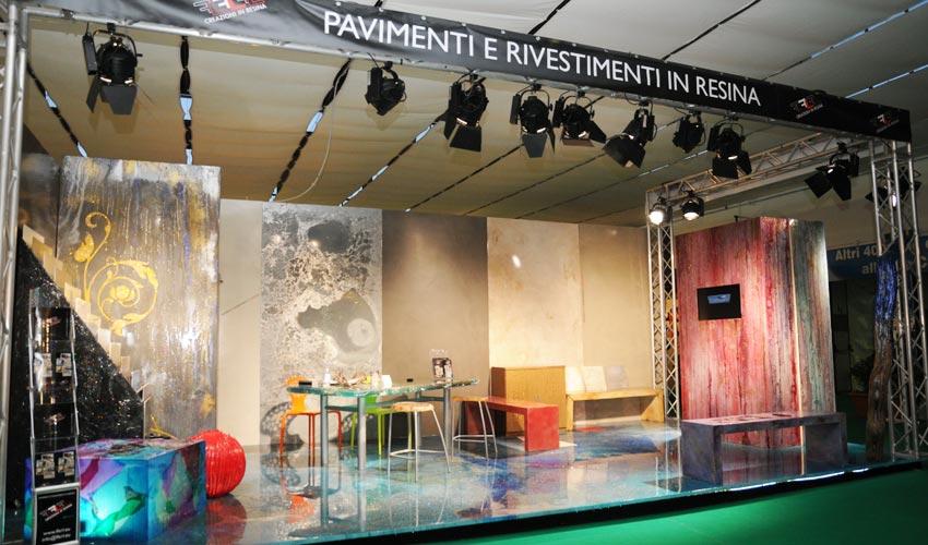 Sede e showroom di FL Srl, dove è possibile visionare campioni di pavimenti in resina ed alcune nostre realizzazioni.