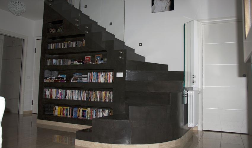 Scale in resina per casa privata a milano fl srl di francesco lamuraglia - Resina per scale ...