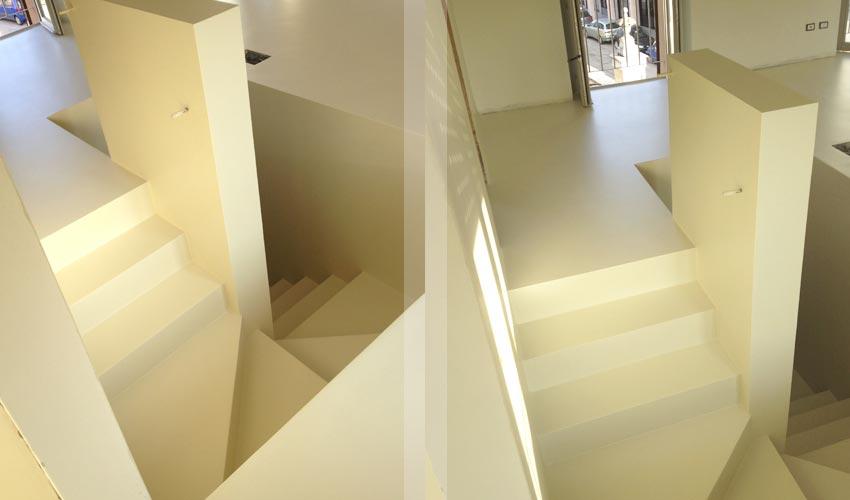 Pavimento e scale in resina per casa privata a monza fl - Resina per scale ...