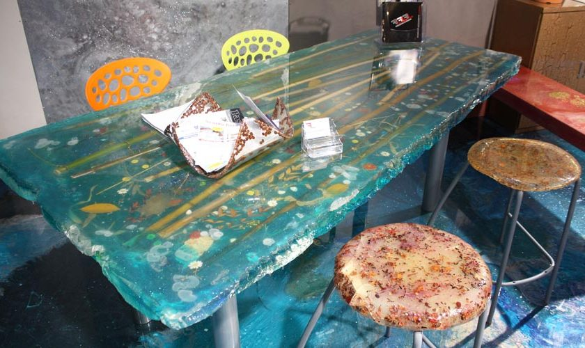 Complementi di arredo realizzati con la resina fl srl for Lavori in resina